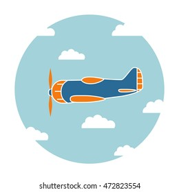 Vector a background flat with the going screw plane.Design element for banners, posters, leaflets, the websites.