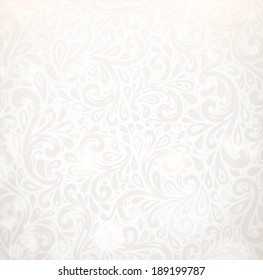 Vector Background. Floral Pattern, Wallpaper with Flowers. Vintage Background.