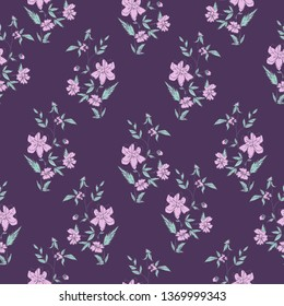 Vector background with flowers pattern. Design print textile