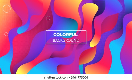 Vector Background With The Form Of Colorful And Elegant Gradient Layer. Vector EPS .10