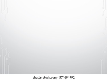 Vector background of future technology on a white background.