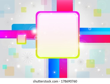 Vector background, geometrical forms, banner.