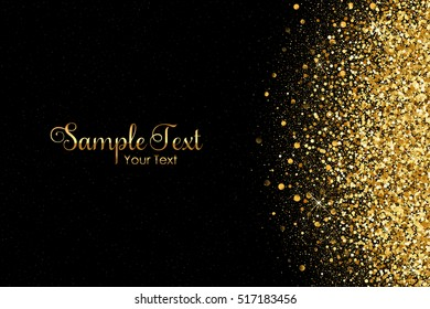 Vector background with gold glitter and space for your tex