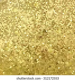 Vector background with gold sequins
