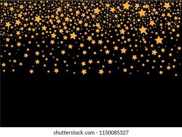 Vector background with gold stars.Ellustration EPS 10.