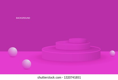 Vector background with gradient bright colors and minimalistic shapes