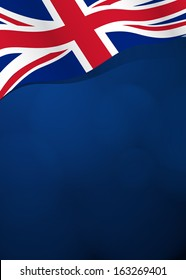 Vector background with Great Britain flag in vector