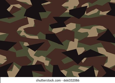 vector background of  green khaki geometric camouflage