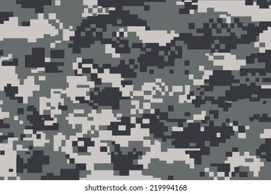 vector background of grey digital camoflage pattern
