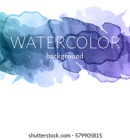 Vector background with hand drawn watercolor texture.