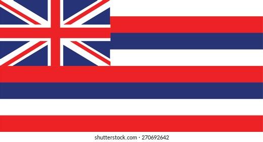 vector background of hawaii flag usa