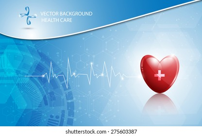 vector background health care and medical logo concept