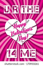 vector background with hearts Valentine's Day
