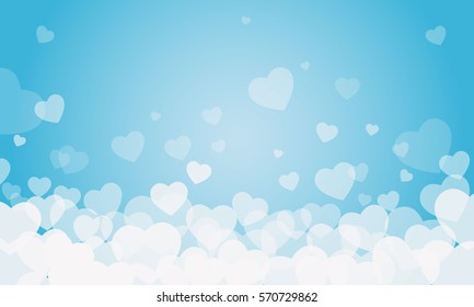 vector background with hearts, Valentine's Day, Women's Day