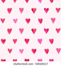 Vector background hearts watercolor