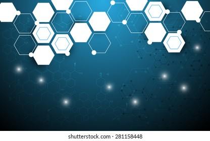 vector background hexagon design abstract science concept