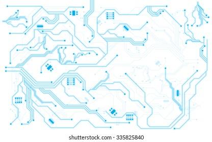 vector background hi tech pattern circuit design