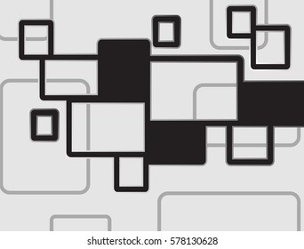 Vector background Illustration of abstract black texture with squares. Pattern design for banner