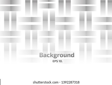 Vector background illustration Abstract geometric shapes, squares and chasing black and white