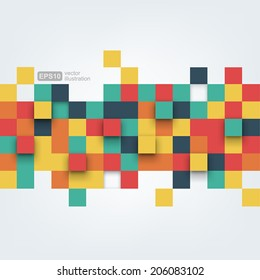 Vector background. Vector Illustration of abstract squares. Background design for poster, flyer, cover, brochure.