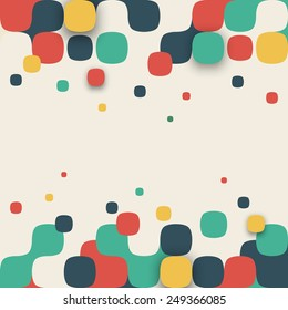Vector background. Illustration of abstract texture with squares. Pattern design for banner, poster, flyer, card, postcard, cover, brochure.