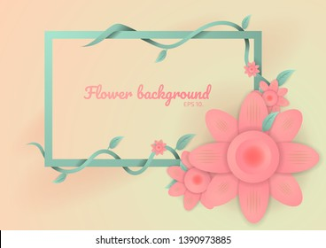 Vector background illustration Easter concept Flowers and vines