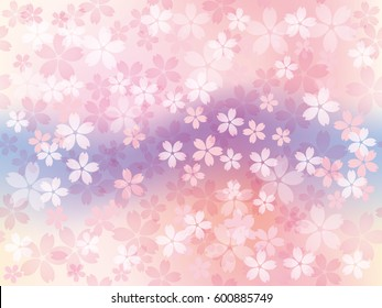 A vector background image with cherry blossoms in full bloom. You can connect this image both laterally and vertically to create a seamless, endless pattern.