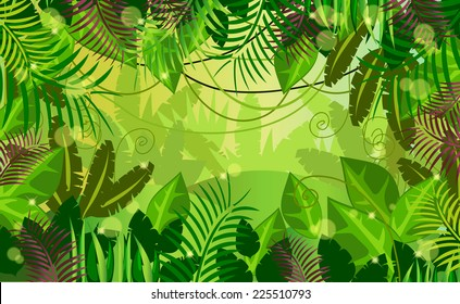 vector background jungle