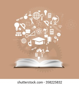 Vector background knowledge from books.