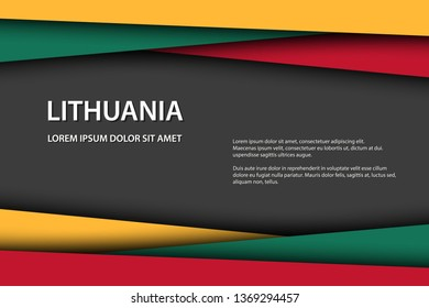Vector background with Lithuanian colors and free grey space for your text, Lithuanian flag, Made in Lithuania, Lithuanian icon and symbol