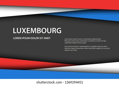 Vector background with Luxembourg colors and free grey space for your text, Luxembourg flag, Made in Luxembourg, Luxembourg icon and symbol