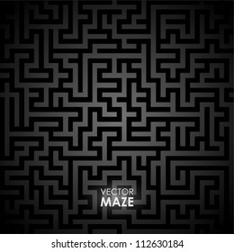 Vector background with maze. Seamless pattern.
