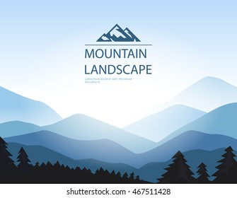 Vector background with mountains.