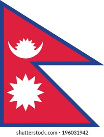 vector background of Nepal flag