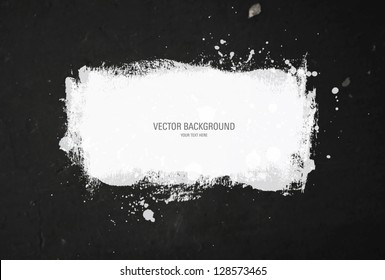 Vector background - old distressed worn out wall with grungy white paint