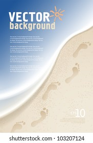 Vector background on summer holiday seaside resort. EPS 10.