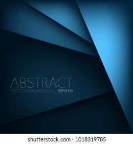 Vector background overlap layer blue geometric with space for background design
