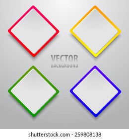 Vector background of paper round notes.