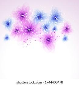 Vector Hintergrund mit pastellfarbenen Blumen