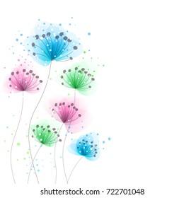 Vektorhintergrund mit pastellfarbenen Blumen