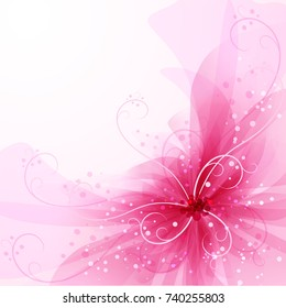 Vector background with pastel flowers.