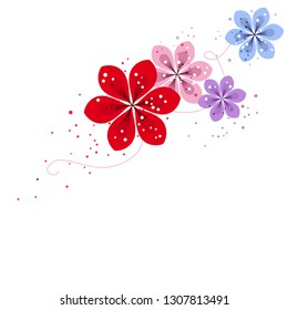 Vector background with pastel flowers. EPS 10.