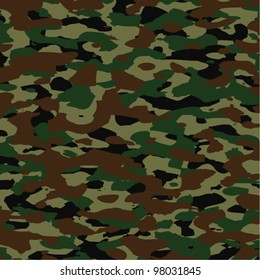 vector background pattern of summer army camouflage
