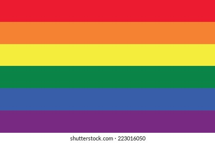 vector background of rainbow flag or LGBT flag