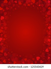 Vector background from red hearts