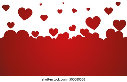 vector background with red hearts