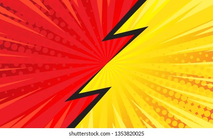vector background red and yellow