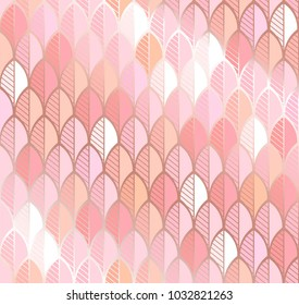 Vector background in rose and gold tones.