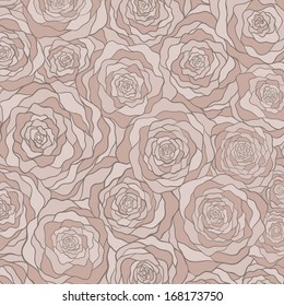 Vector background with roses.