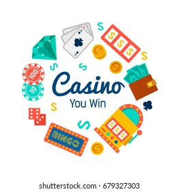 Vector background for royal casino